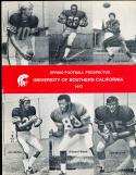 1973 USC Spring Football Prospectus Pat Haden Anthony davis lynn swan