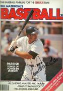 lance Parrish signed Baseball 1986 Mazeroski magazine