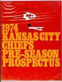 1974 Kansas City Chiefs pre season prospectus nrmt