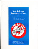 1967 New Orleans Buccaneers ABA Media Press Guide