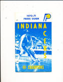 1970 Indiana Pacers ABA Media Press Guide;  em