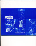 1973 Carolina cougars ABA Media Press Guide ex-em