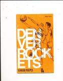1969 Denver Rockets ABA Media Press Guide