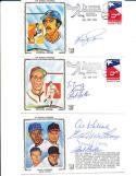 Ernie Banks ed Mathews Signed postcard 8th national