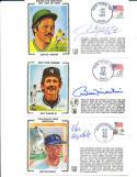 Don Drysdale HOF signed envelope catche Yankees Z