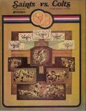 New Orlean Saints Baltimore Colts - October 1969 NFL Program
