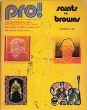New Orlean Saints Cleveland Browns - December 1971 NFL Program