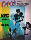 New Orlean Saints Philadelphia Eagles - September 1971 Football Program