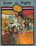 New Orlean Saints Philadelphia Eagles 1969 football Program NFL Coin Souvenir