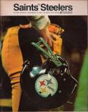 New Orlean Saints Pittsburgh Steelers  December 1968 football Program