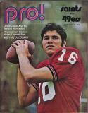 New Orlean Saints vs. San Francisco 49ers - September 1971 NFL Program
