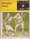 San Diego Chargers vs. New Orlean Saints - August. 9, 1969 Football Program