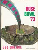1973 Rose Bowl USC vs Ohio State nm Football Program