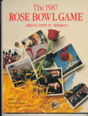 1987 Rose Bowl Arizona  michigan nm Football Program