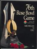 1990 Rose Bowl usc michigan nm Football Program