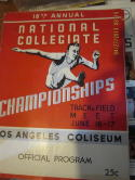 June 16 1939 NCAA Track & Field 18th annual championship Program