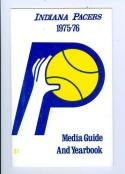 1975 Indiana Pacers ABA press media guide