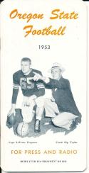 1953 Oregon State Football Press Guide em/nm clean copy