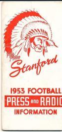 1953 Stanford Football Press Guide em clean copy