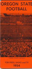 1954 Oregon State Football Press Guide em/nm clean copy