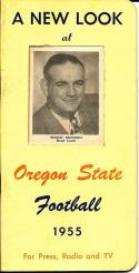 1955 Oregon State Football Press Guide em/nm clean copy