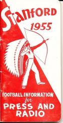 1955 Stanford Football Press Guide em clean copy