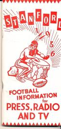 1956 Stanford Football Press Guide nm clean copy