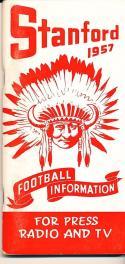 1957 Stanford Football Press Guide em-nm clean copy
