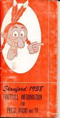 1958 Stanford Football Press Guide ex-em clean copy