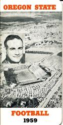 1959 Oregon State Football Press Guide nm