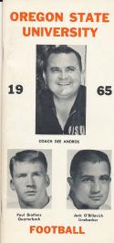 1965 Oregon State Football Press Guide em/nm Paul Brothers CFBmg19
