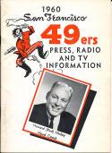 1960 San Francisco 49ers press Media Guide em