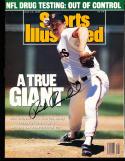 1989 7/10 Rick Reuschel San Francisco Giants no label  Signed sports Illustrated