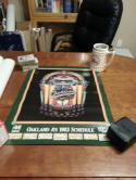 Oakland Athletics 1983 schedule promotioanl radio poster bx 2
