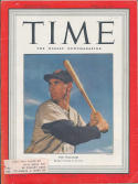 1950 Time Magazine Ted Williams Boston Red Sox label em
