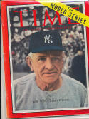 1955 Time Magazine No label newsstand Casey Stengel Yankees em/nm