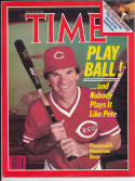 1985 Time Magazine No label newsstand Pete Rose Reds NM