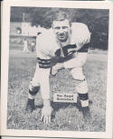 1953 Cleveland Browns Ken Gorgal Team Issued card nm