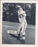 1953 Cleveland Browns Otto Graham Team Issued card nm
