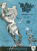 12/10 1961 Buffalo Bills  San Diego Chargers AFL Football Program nm