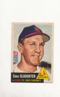1953 Enos Slaughter St. Louis Cardinals Topps 41 em