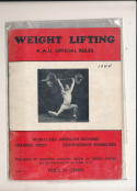 1944 Weight Lifiting AAU Official rules world and american records guide
