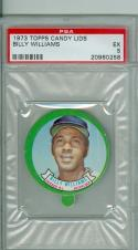 1973 topps Candy lids Billy Williams  psa 5 Cubs