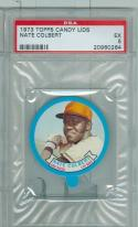 1973 topps Candy lids Nate Colbert psa 5 San Diego Padres
