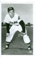 Baseball indians vintage Postcard Jim Piersall signed