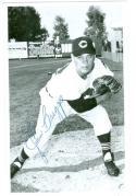 Baseball signed Indians Postcard John Briggs