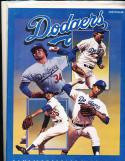 4/2 1982 Los angeles Dodgers vs Angeles freeway series baseball program