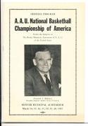 1937 Mahoney AAU National Basketball Championship program    bx cg1