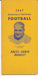 1947 California Bears College Football Press media Guide      bx cg2