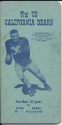 1950 California Bears College Football Press media Guide      bx cg2